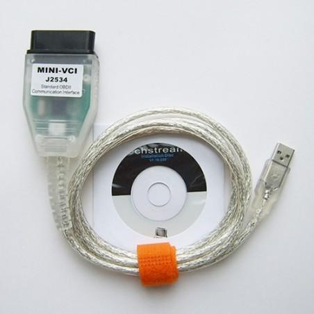 MINI VCI Toyota Lexus diagnostikos kabelis laidas V8
