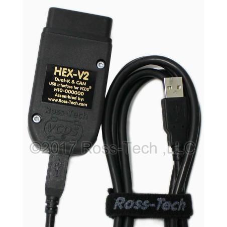 HEX - V2 Pro VCDS VAG Ross-Tech Originalus Audi VW diagnostinis kabelis laidas