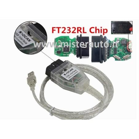 BMW INPA K+DCAN diagnostikos kabelis laidas su jungikliu
