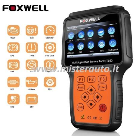 FOXWELL NT650 ELITE universali auto diagnostikos įranga
