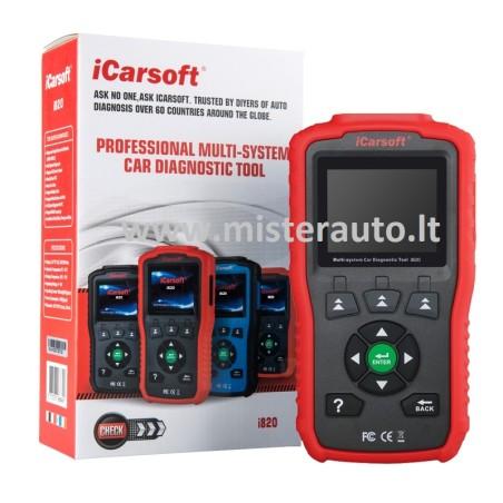 iCarsoft i820 EOBD/OBDII & CAN scanner universali diagnostikos įranga